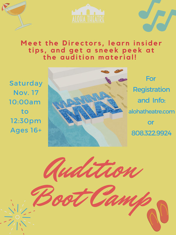 "Aloha Theatre will be holding auditions for their production of ""Mamma  Mia!"", the popular ABBA-inspired musical on December 3 and 4…are you ready?"