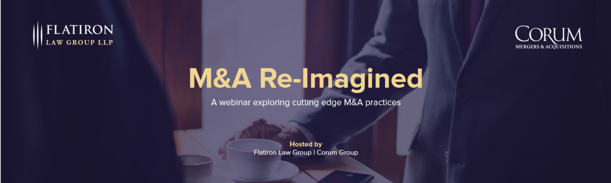 Corum Group M A Re Imagined A Webinar Exploring Cutting Edge