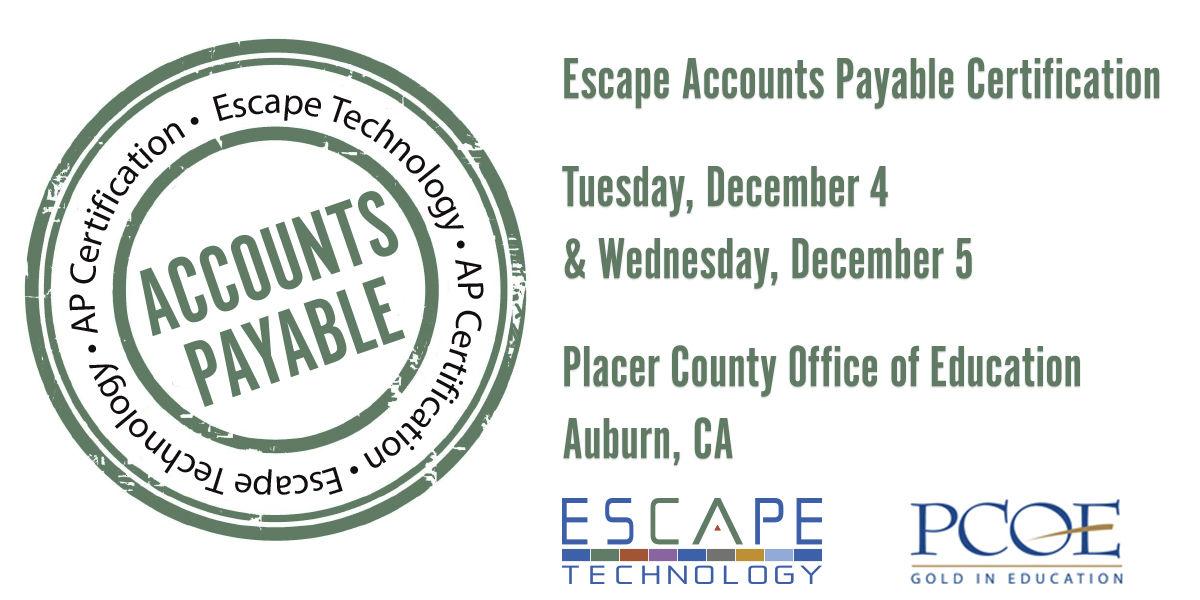 Escape Technology — Escape District AP Certification (Placer)