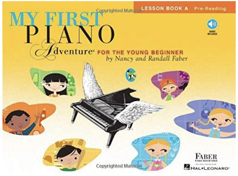 Piano Adventure- Intro to Piano for 5-6 year olds (Grade K-1)